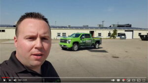 YouTube video thumbnail with company truck