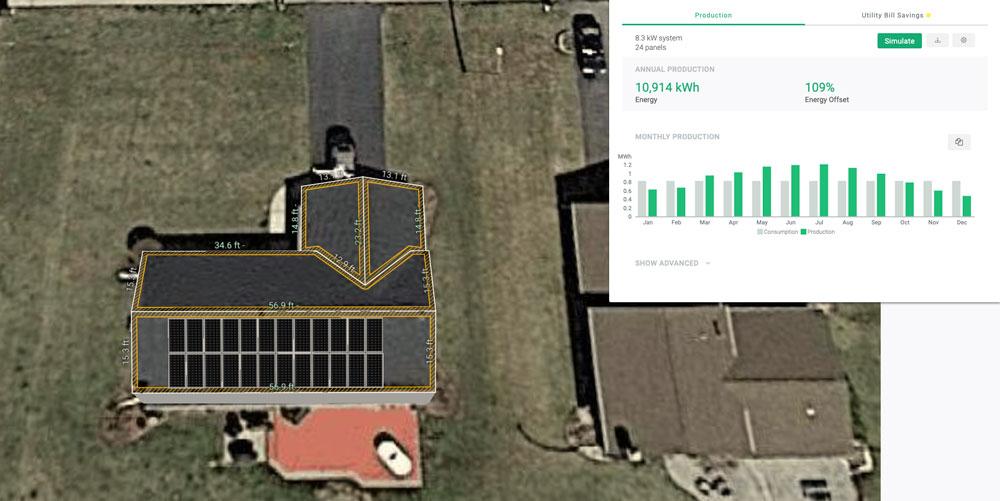 solar design satellite view